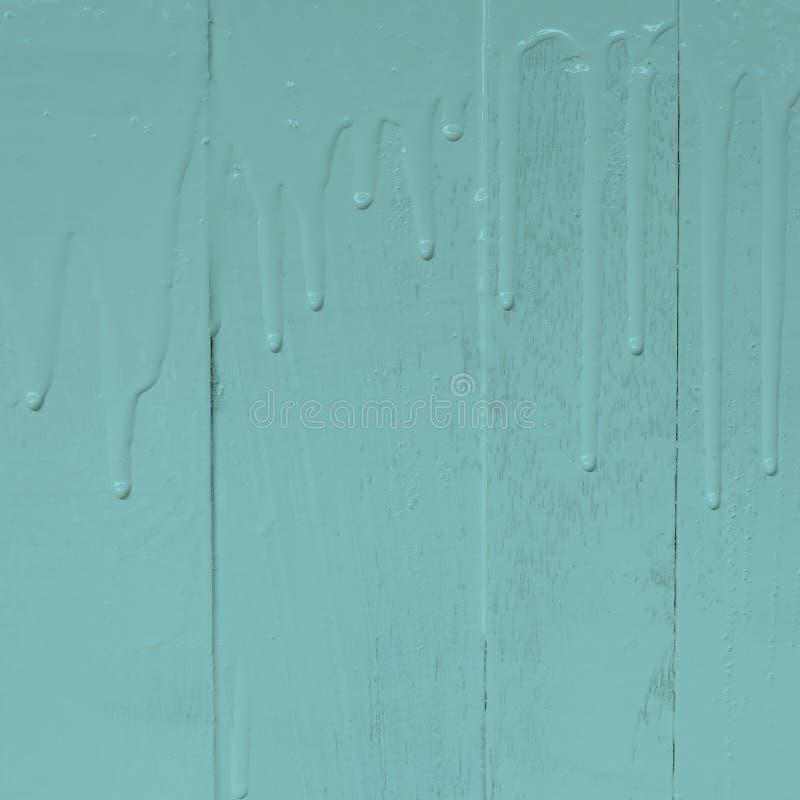 Drewniany ścienny obraz nafcianego koloru farbą z dolewanie kapinosa tekstury wzorem, 1:1, pastelowy brzmienie, turkusowy kolor obrazy royalty free