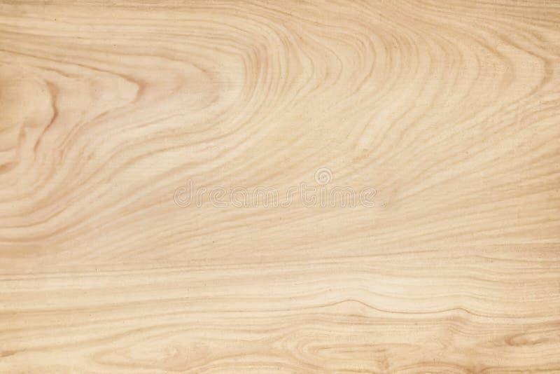 Drewniany ścienny tekstury tło, Jasnobrązowi naturalni falowi wzory abstrakcjonistyczni w horyzontalnym zdjęcie royalty free