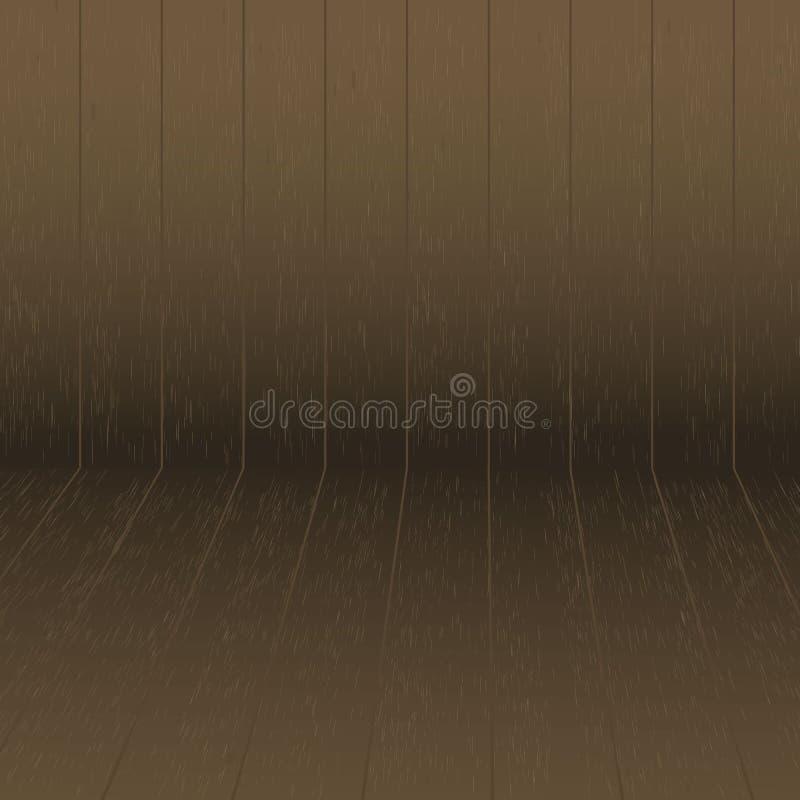 Drewniany abstrakcjonistyczny prosty deseniowy isometric łasy ilustracja wektor
