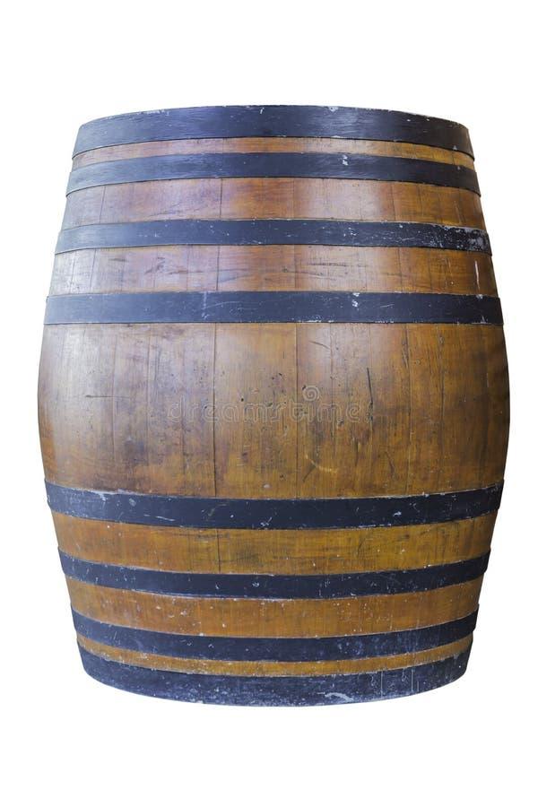 Drewniany barel odizolowywający na białym tle fotografia royalty free