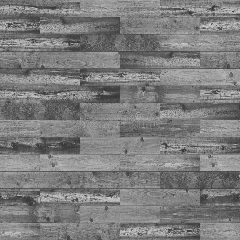 Drewniany bezszwowy czarny i biały zdjęcie stock