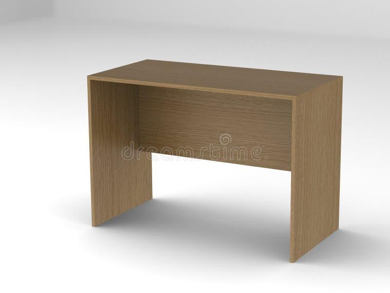 Drewniany biurowy biurko obraz royalty free