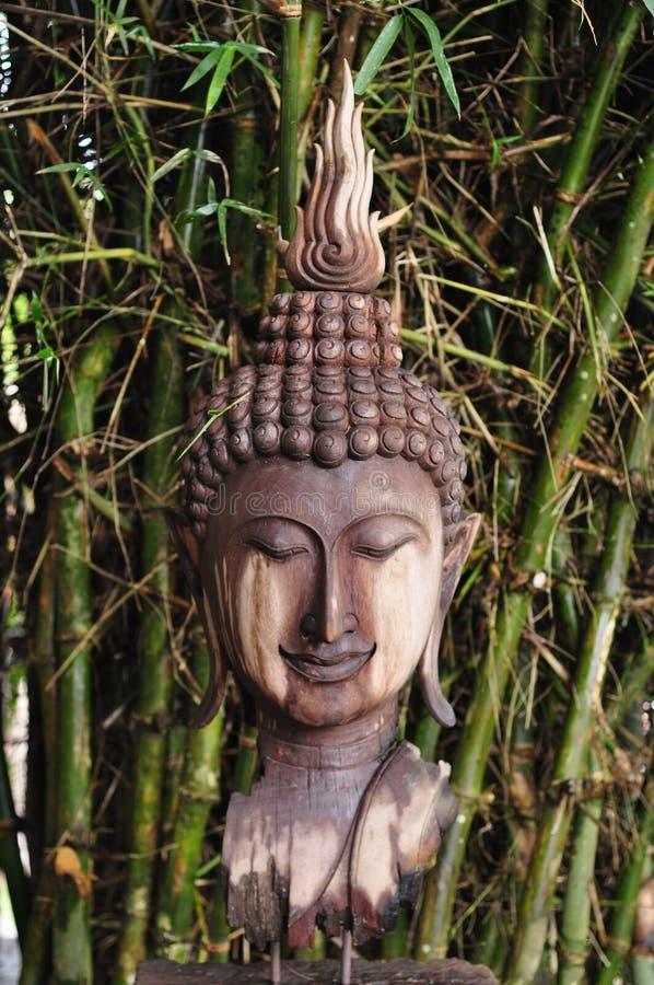 Drewniany  buddha obraz royalty free