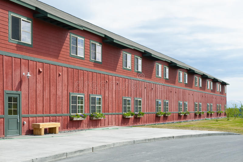drewniany budynku hotel obraz royalty free