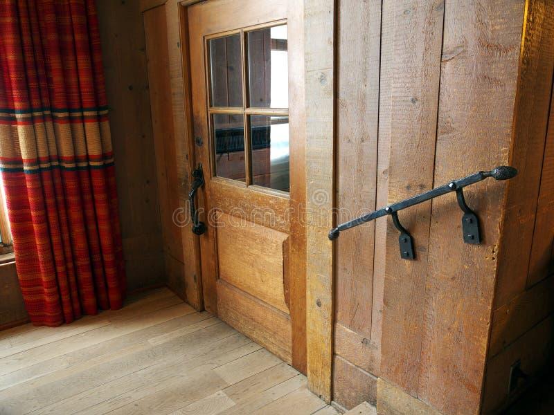 drewniany budynku wnętrze obrazy stock