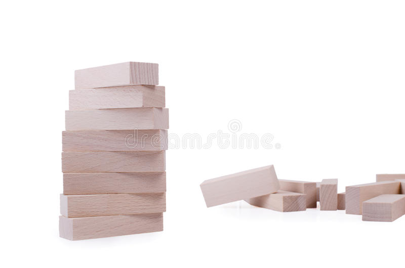 Drewniany cegieł wierza obrazy stock