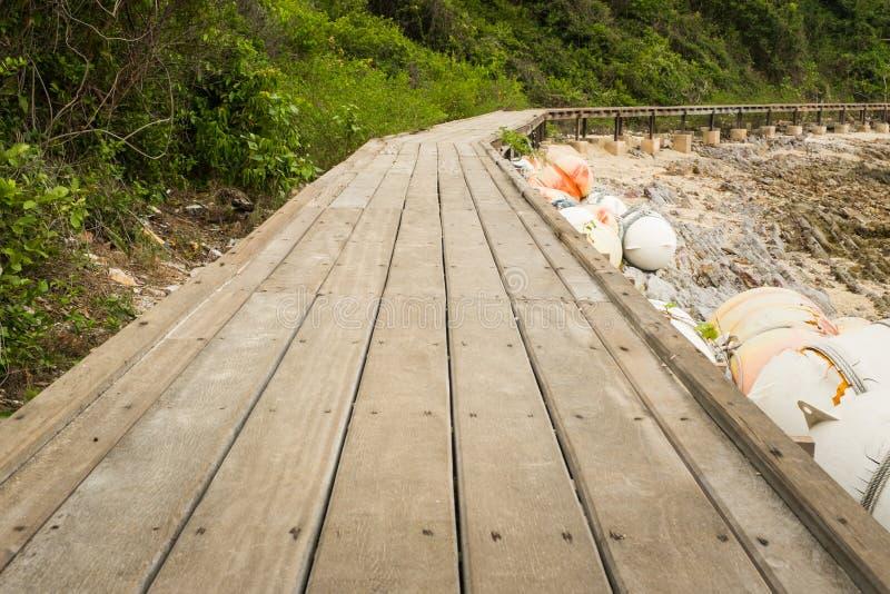 drewniany chodzący sposób fotografia stock