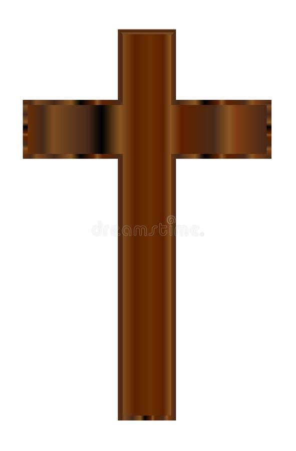 drewniany chrześcijański krucyfiks ilustracja wektor