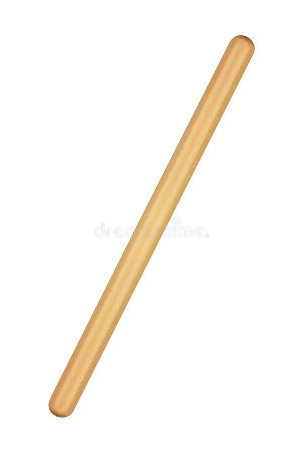 Drewniany cwelich odizolowywający na białym tle zdjęcie stock