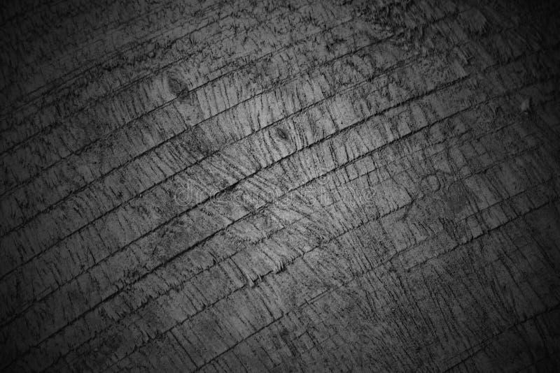 Drewniany czarny i biały tekstury tła zbliżenia wzór zdjęcie stock