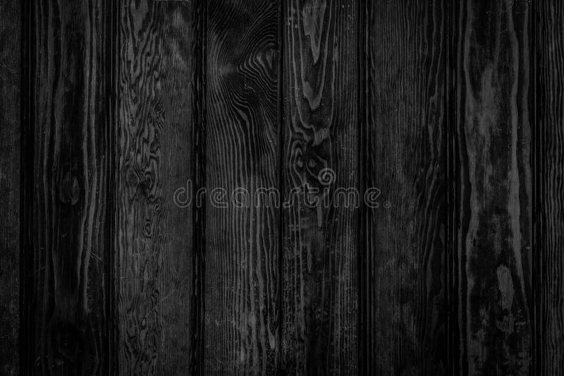 Drewniany czerń kasetonuje tło fotografia royalty free