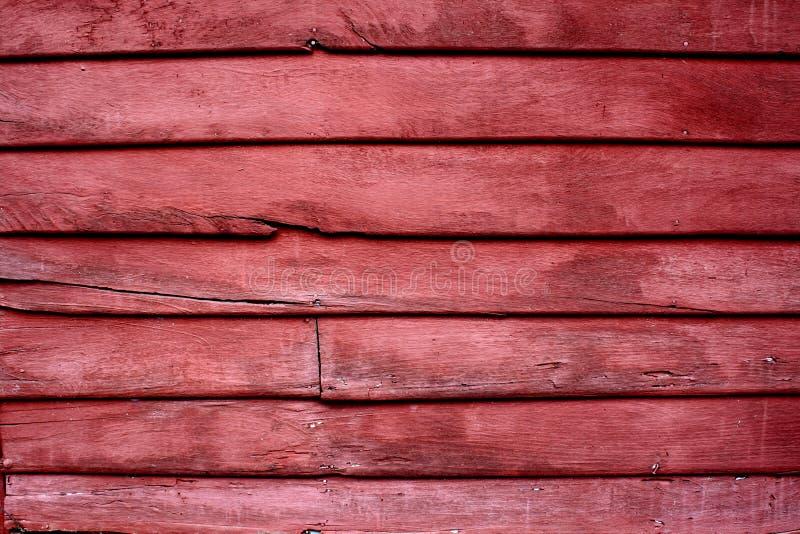 Drewniany czerwieni ściany wzór zdjęcia stock