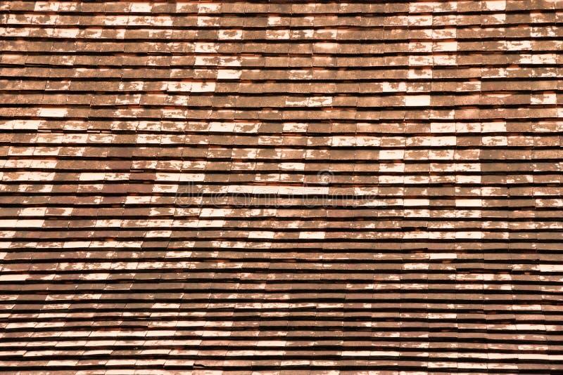 Drewniany dachowy stary zdjęcia stock