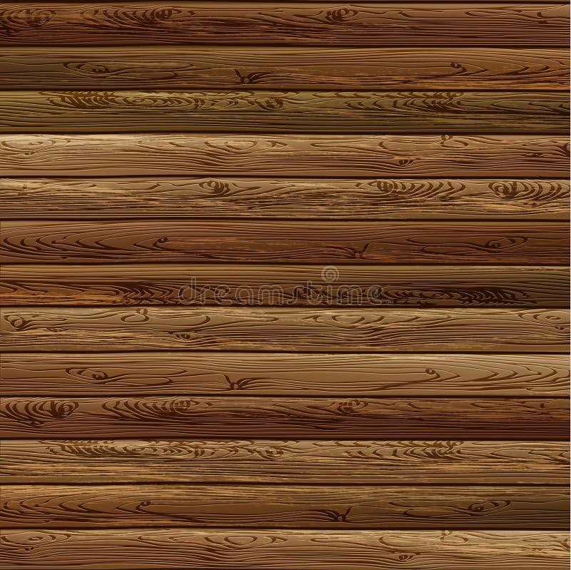 Drewniany deski tło ilustracja wektor