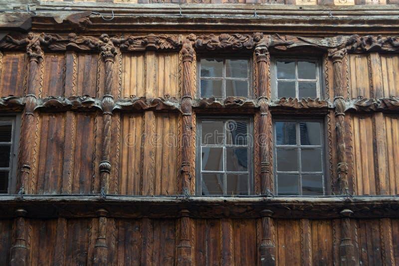 Drewniany dom - Macon, Francja zdjęcie stock