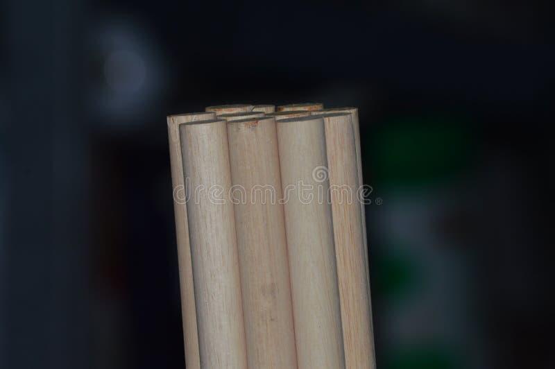 Drewniany dowels zakończenie zdjęcie royalty free