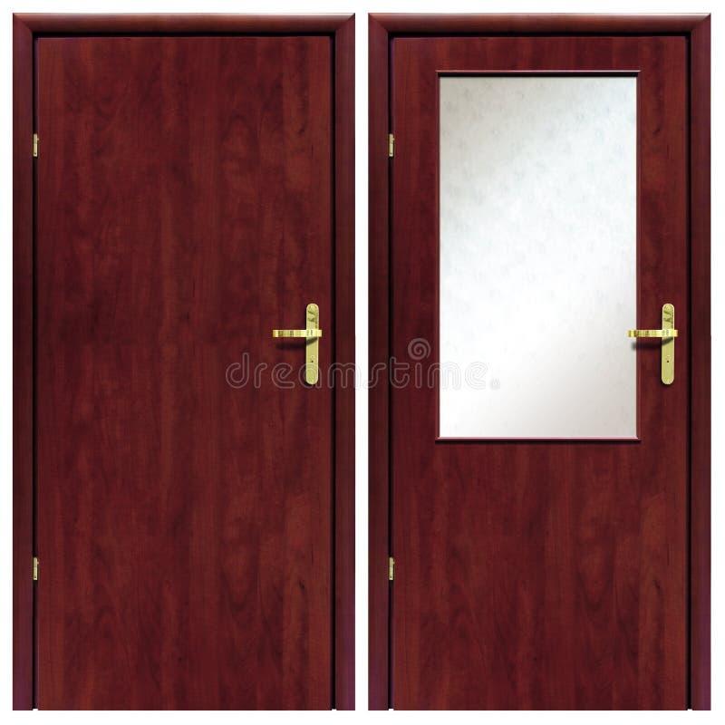 Drewniany drzwi 01 zdjęcia stock