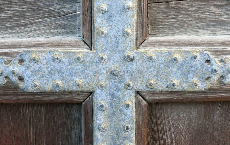 Drewniany drzwi, Karamon brama, Nijo kasztel, Kyoto, Japonia, szczegół obrazy stock