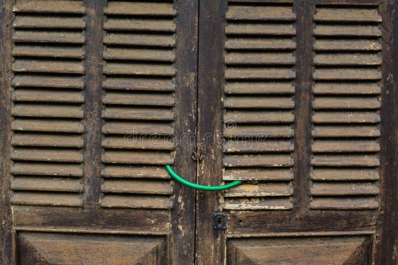 Drewniany drzwi stary dom obraz royalty free