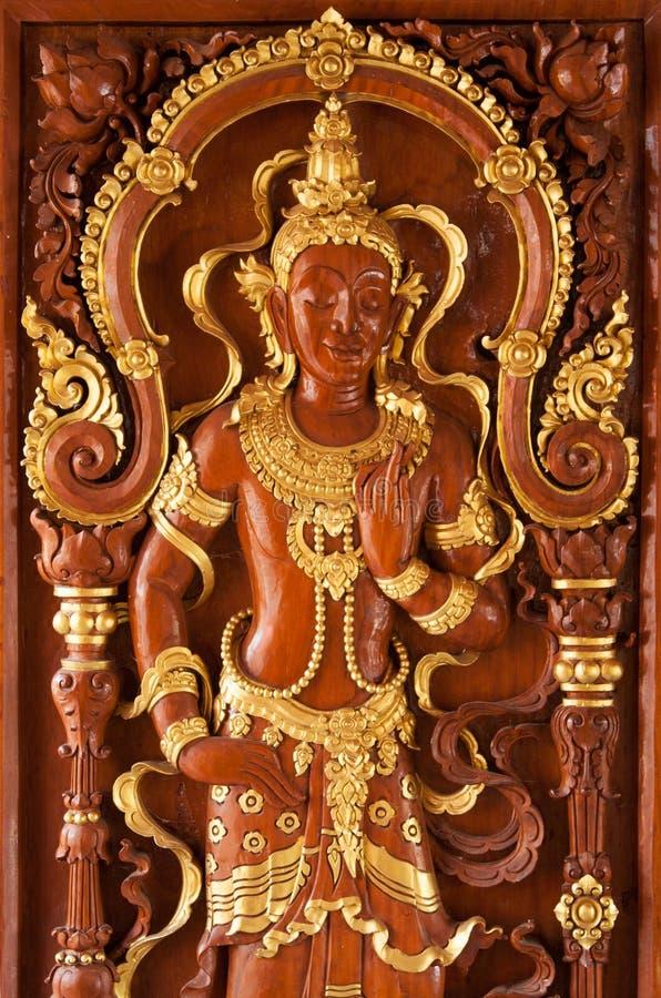 Drewniany drzwi: sztuka obrazy stock