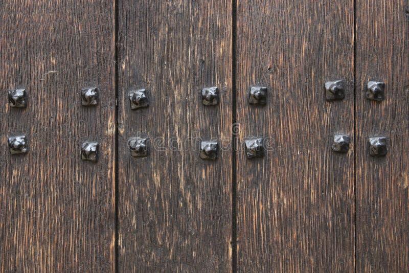Drewniany drzwiowy tło obrazy stock