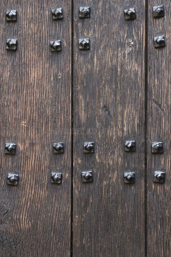Drewniany drzwiowy tło zdjęcie royalty free