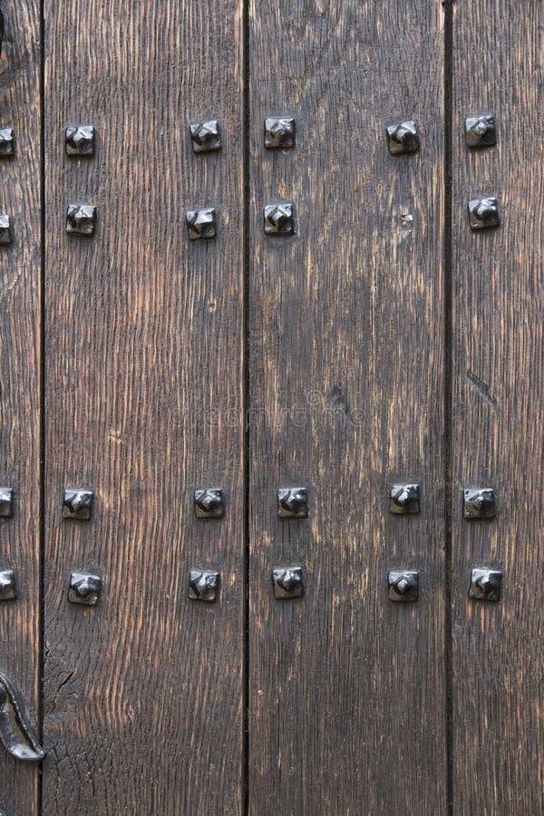 Drewniany drzwiowy tło obraz royalty free