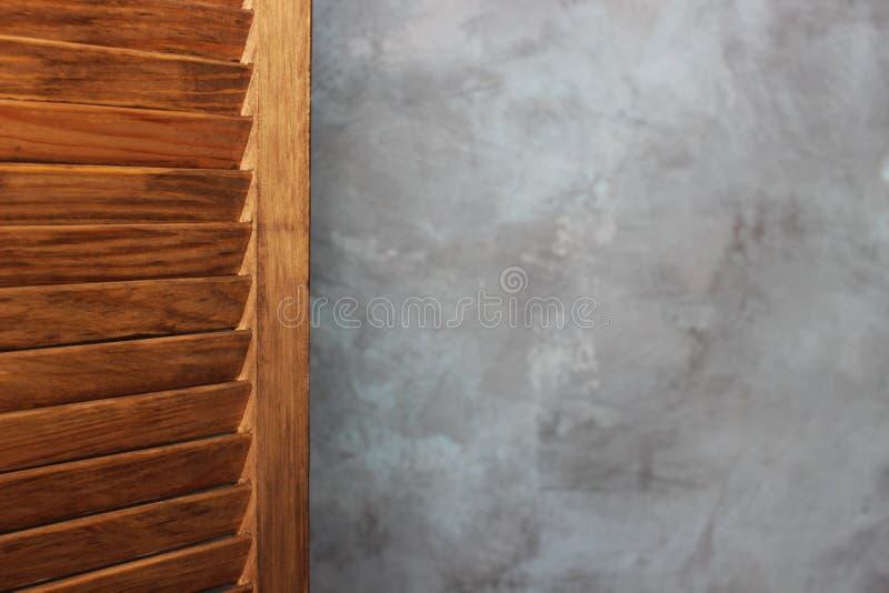 Drewniany ekran, drzwi robić drewno target612_1_ ekran fotografia stock