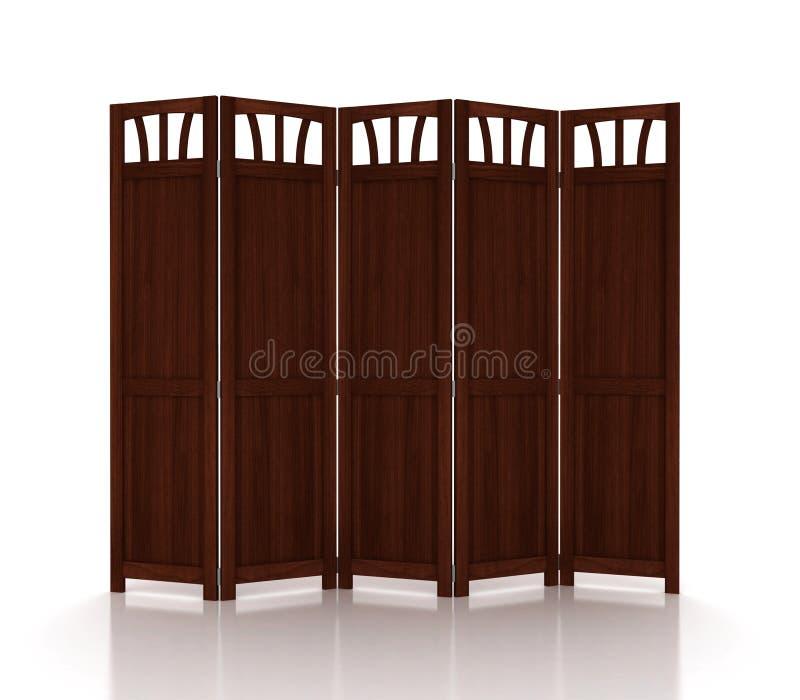 Drewniany falcowanie ekran odizolowywający zdjęcie royalty free