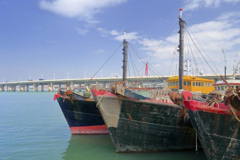 Drewniany fishboat zdjęcia stock