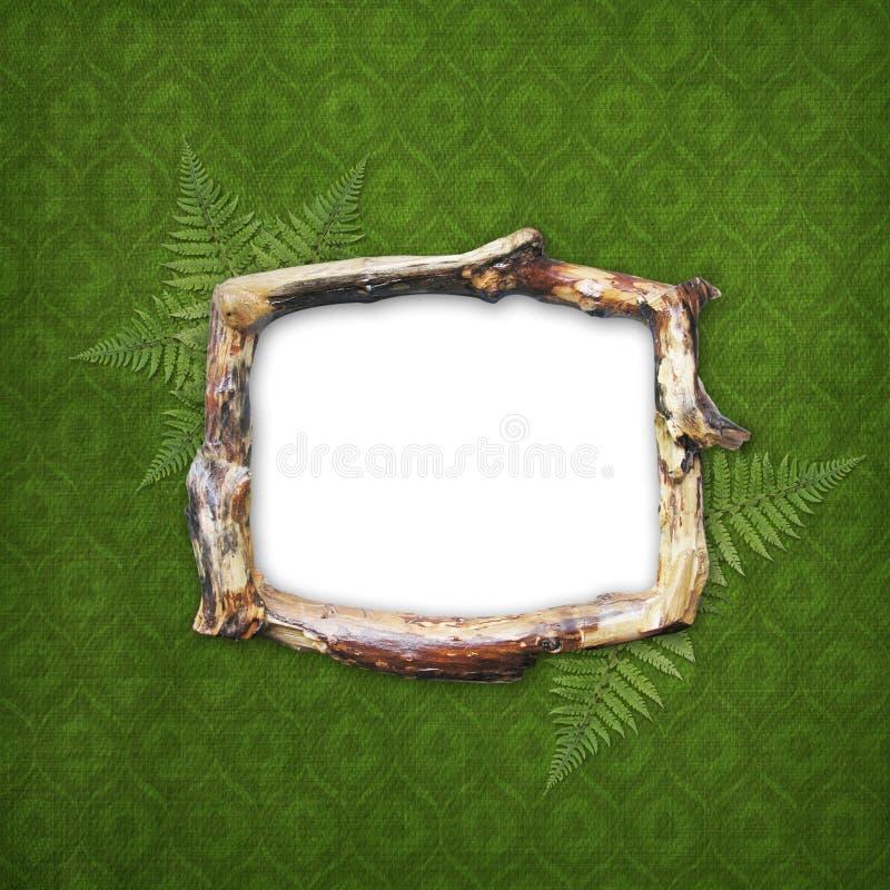 drewniany fotografia ramowy obrazek royalty ilustracja