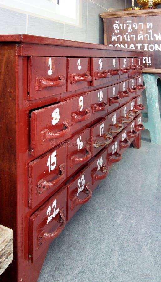Drewniany gabinet dla fortunetelling obraz stock