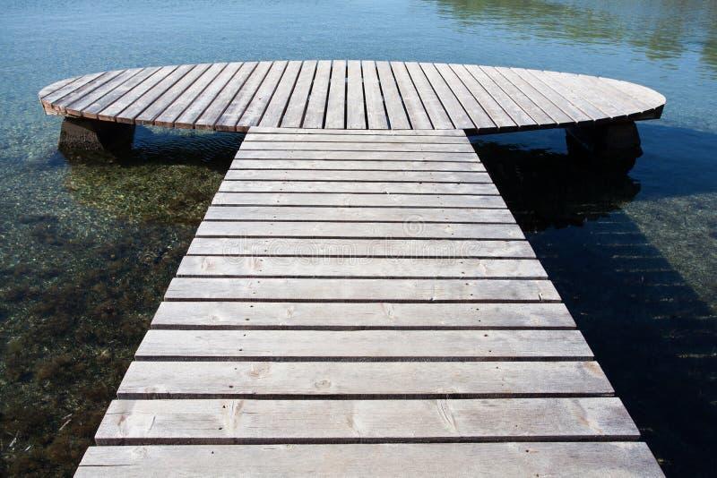 drewniany jetty z round końcówką obrazy stock