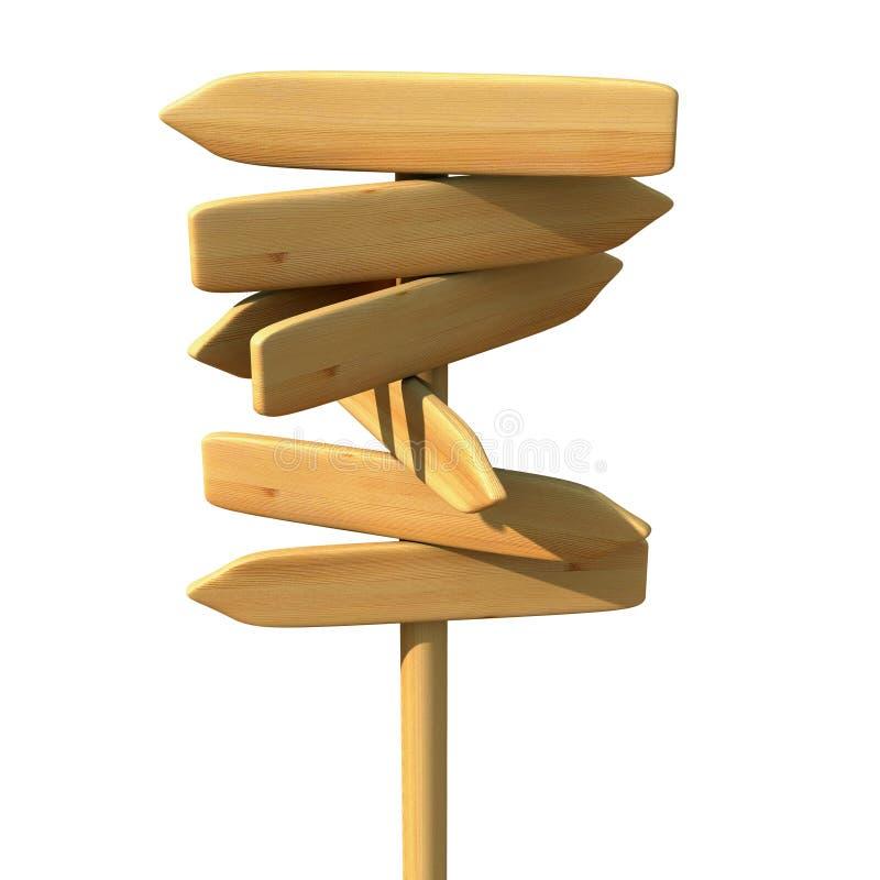 drewniany kierunku znak ilustracja wektor