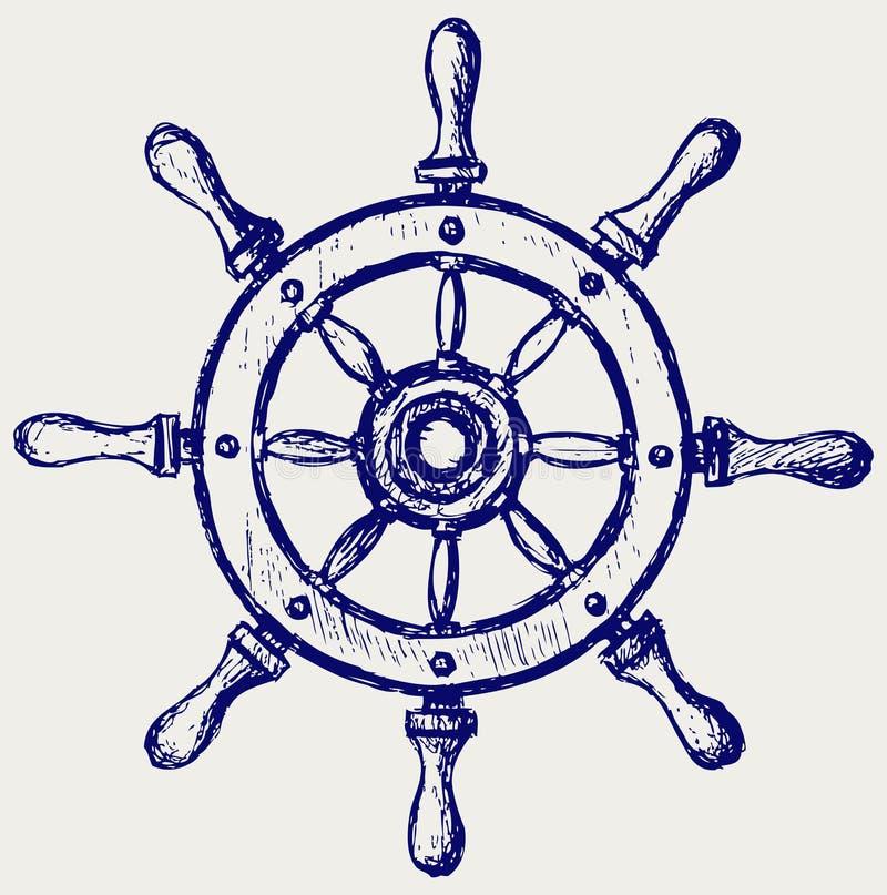 Drewniany koło żołnierz piechoty morskiej ilustracja wektor