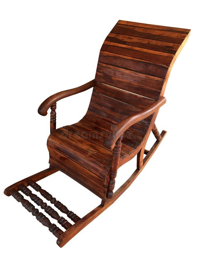 Drewniany kołysa krzesło odizolowywający na białym tle obrazy stock