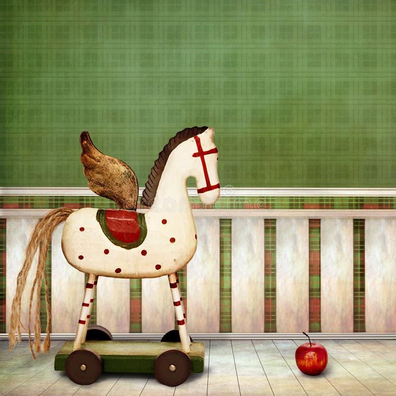 Drewniany Koń royalty ilustracja