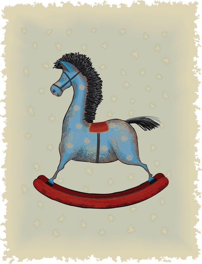 Drewniany koń ilustracja wektor