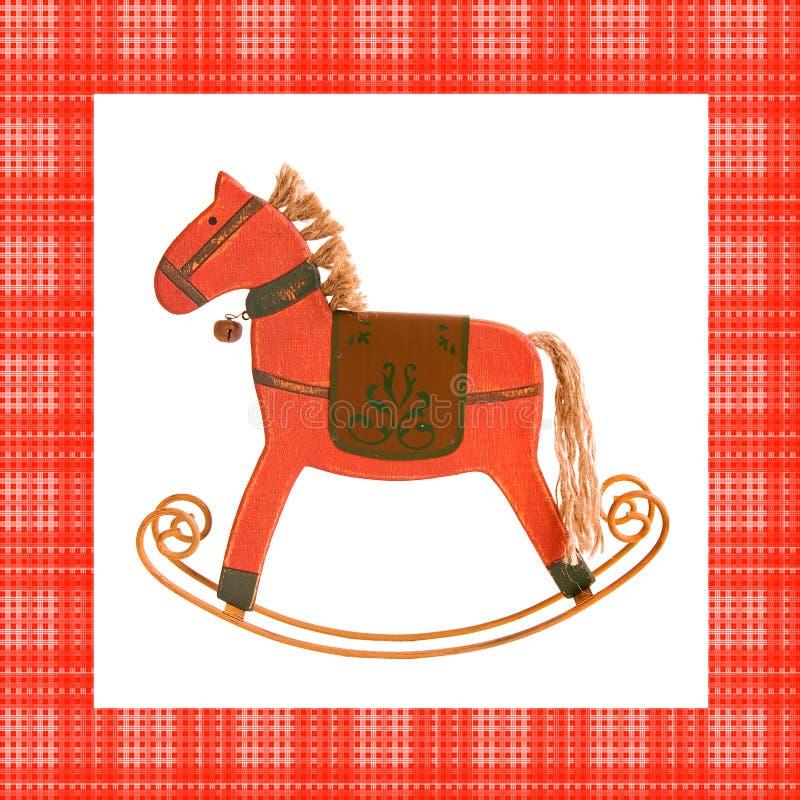drewniany koński czerwony rockin ilustracji