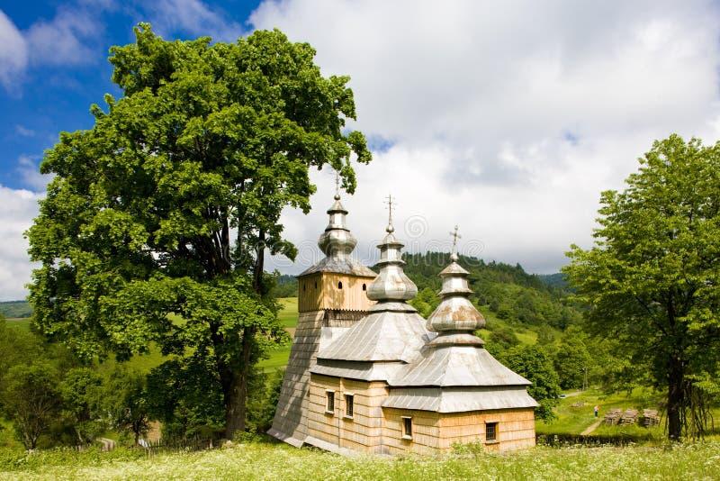 drewniany kościół, Dubne, Polska fotografia royalty free