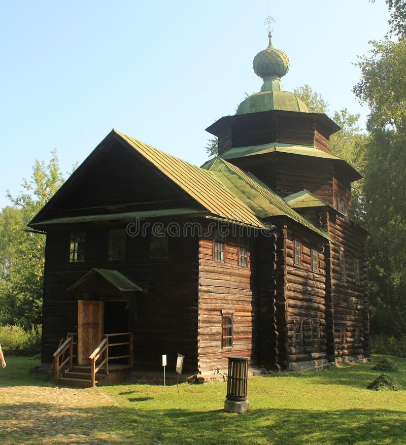 Drewniany kościół Elijah profet obraz stock
