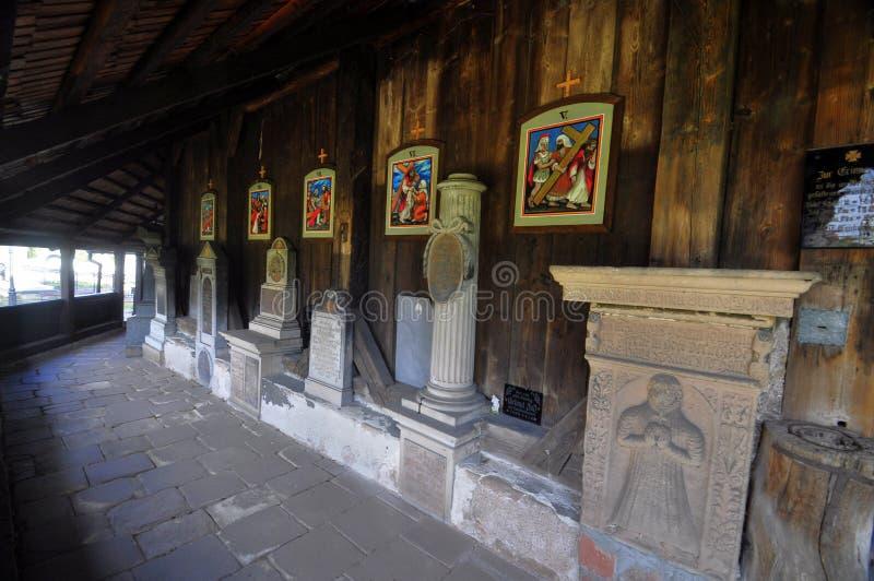 Drewniany kościół w Broumov obrazy stock