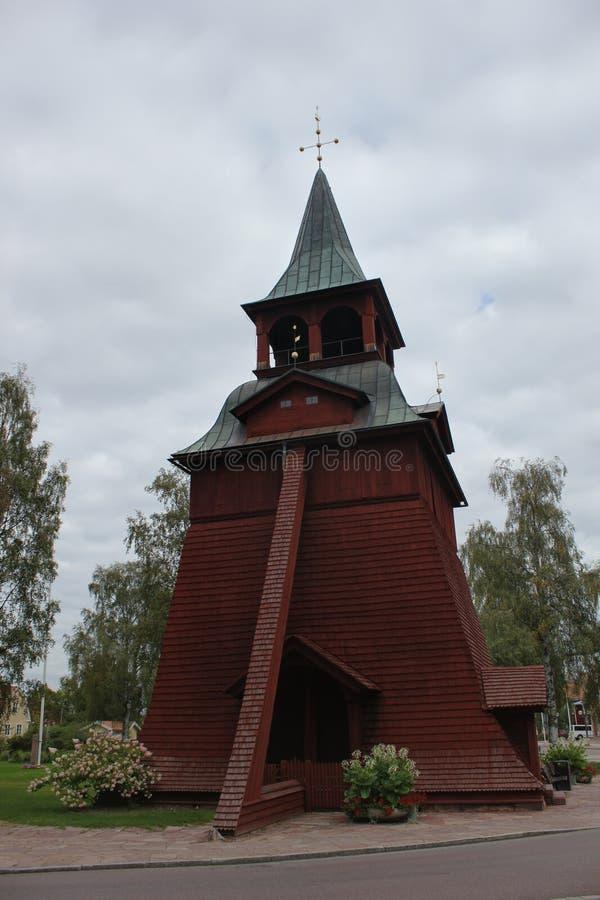Drewniany kościół W Malung zdjęcia stock