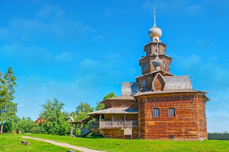 Drewniany kościół w Suzdal zdjęcie stock