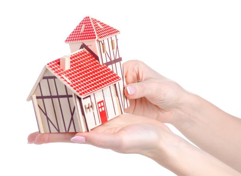 Drewniany konstruktora modela dom zdjęcie royalty free