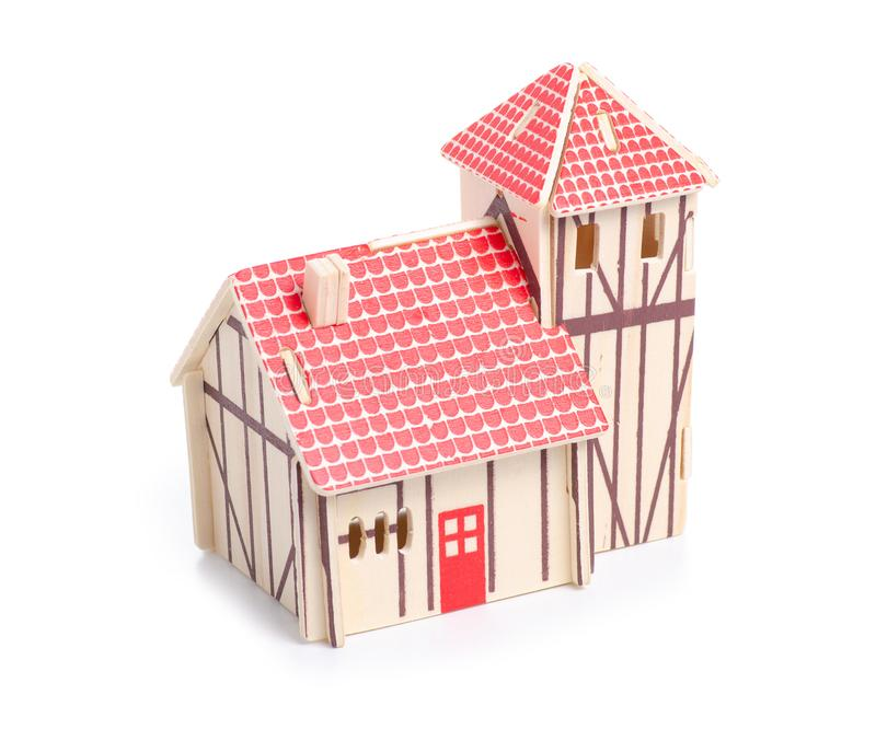 Drewniany konstruktora modela dom fotografia stock