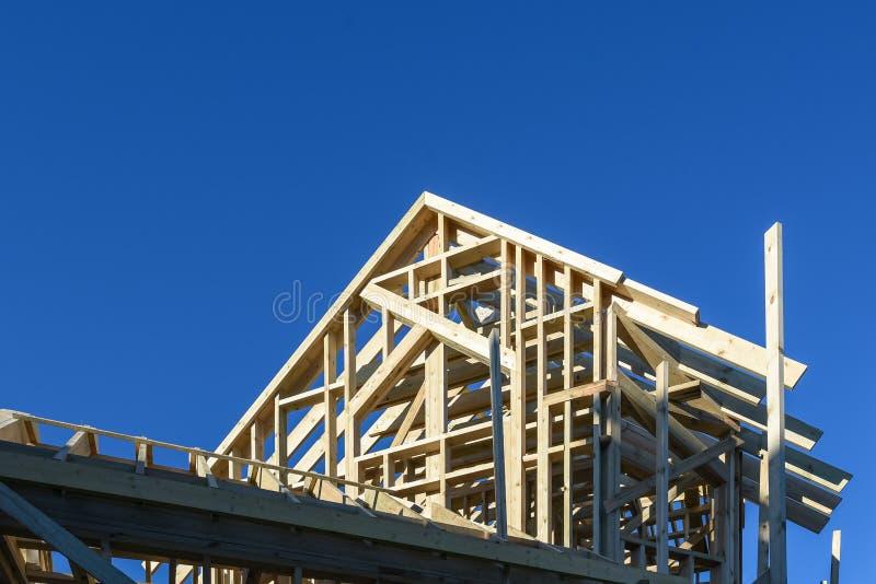 drewniany kratownicowy system zdjęcie stock