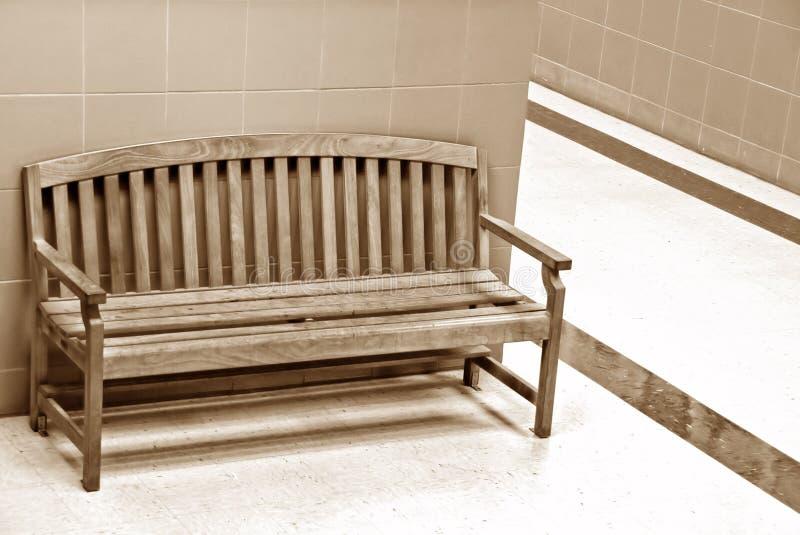drewniany krzesło korytarz obrazy royalty free