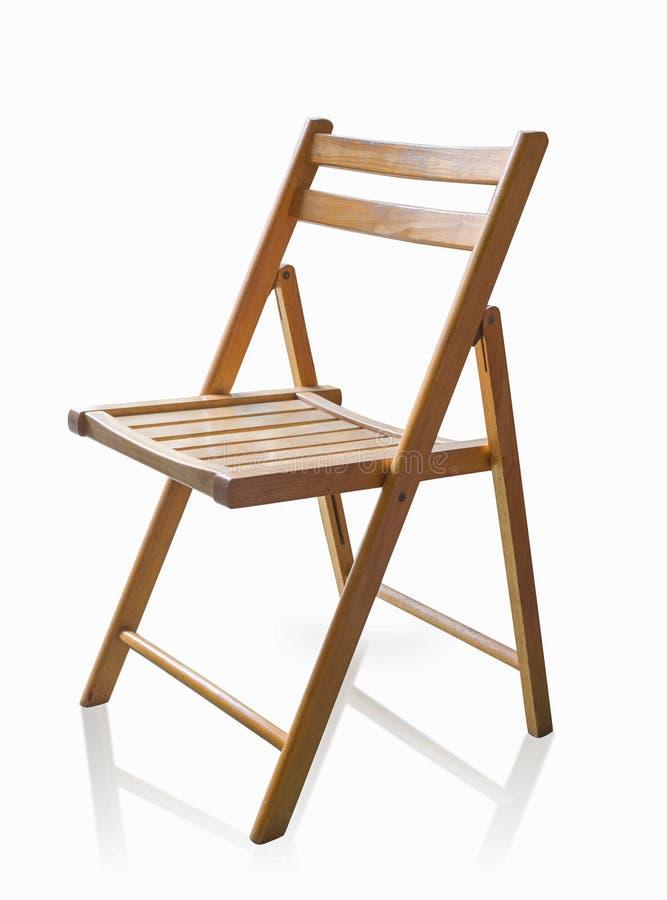 Drewniany krzesło odizolowywający na białym tle, use ścinku ścieżka fotografia royalty free