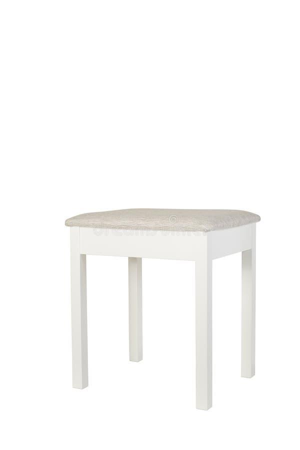 Drewniany kuchenny krzesło z tkaniną fotografia stock